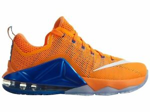 Size 13 Nike Men LeBron XII 12 Low Shoes 724557 838 Orange Blue