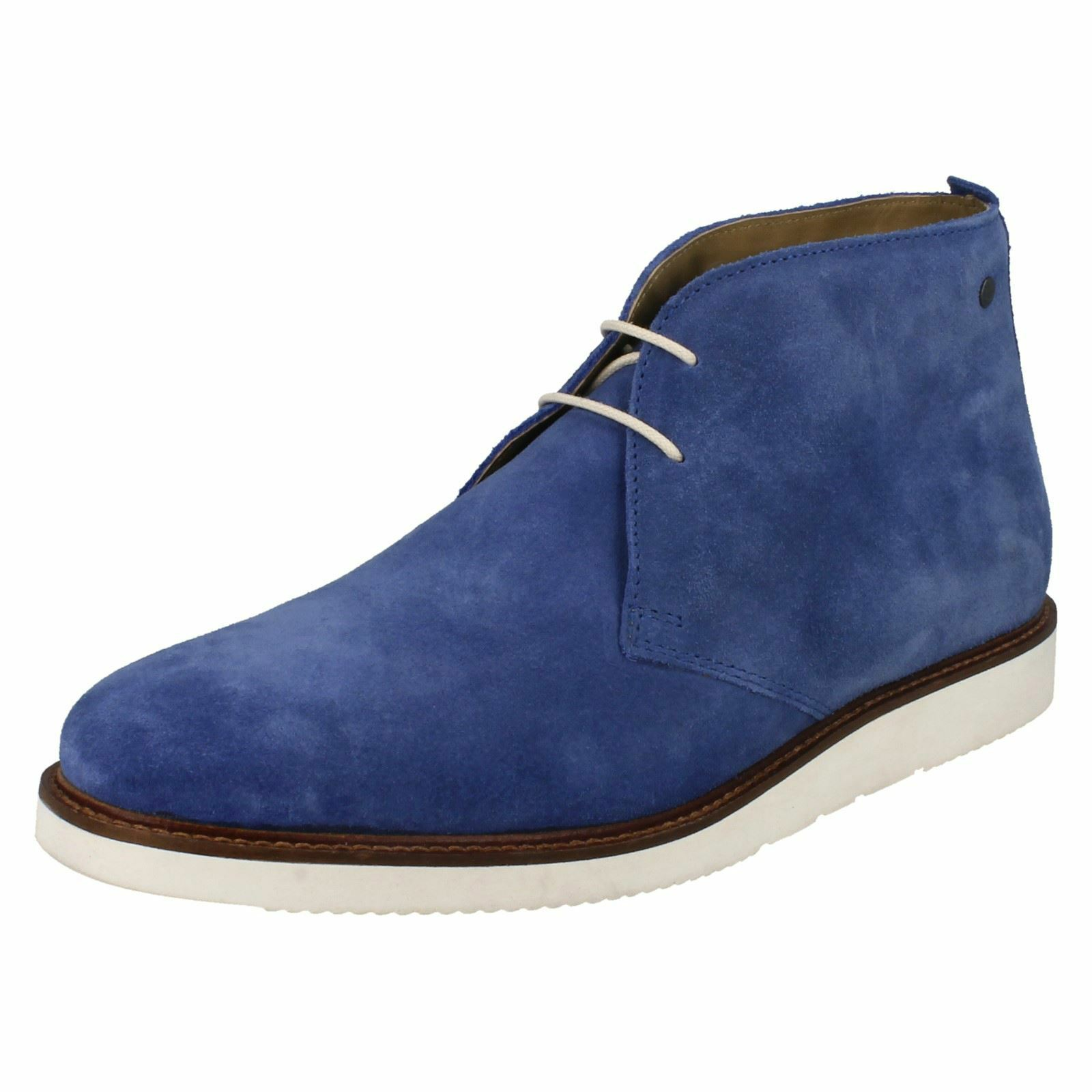 Base London 'Cobden' Smart Herren Blau Wildleder Chukkastiefel