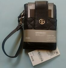 Giani Bernini Softy Leather Grab and Go Wallet iPhone Wristlet Black
