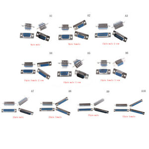 4x-D-Sub-9pin-15pin-25pin-37pin-Female-Male-Solder-Type-Welding-Connector-Pip-ZY