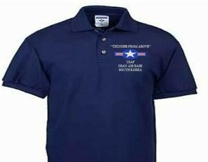 OSAN AIR FORCE BASE SOUTH KOREA USAF EMBROIDERED POLO SHIRT/SWEAT/JACKET.
