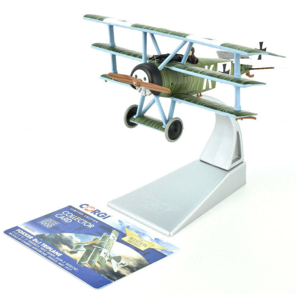 Corgi Fokker DR.1 Triplane - May 1917 1 48 Die-Cast Airplane AA38306