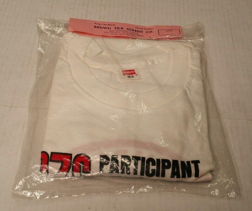 Rare Vtg 1976 28th Annual Bonneville Salt Flats Participant Tee Shirt Weiß M