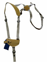Barsony Natural Tan Leather Shoulder Holster Kimber Ruger 380 Ultra-comp 9mm