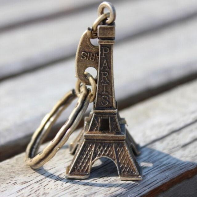 Fashion Mini Paris Eiffel Tower Model Cute Keychain Keyring Keyfob Love Gift GW