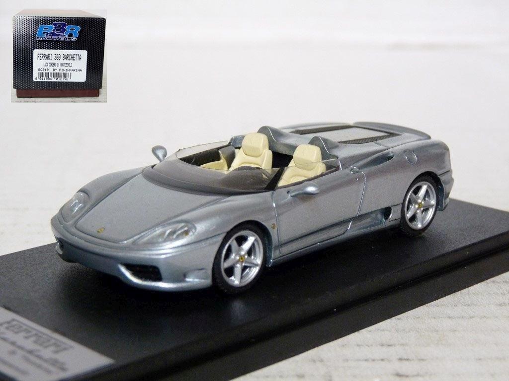 BBR BG219 1 43  2002 Ferrari 360 Barchetta Pininfarina Handmade Resin Model voiture  grand choix et livraison rapide
