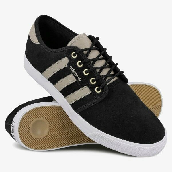 half off e3af4 4e52d Adidas Men s Low Seeley Originals Retro Sneakers Shoes Black Trainers  Unisex 3S