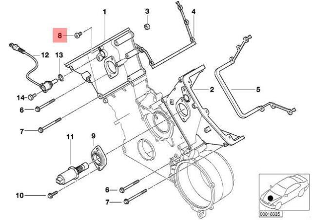 genuine bmw e38 e39 e52 engine cylinder head oil check valve oem rh ebay com BMW E39 Coolant System Diagram 1999 BMW 528I Engine Diagram