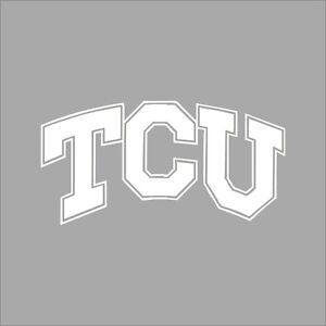 TCU Horned Frogs College Logo C Vinyl Decal Sticker Car Window - College custom vinyl decals for car windows