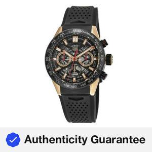 New Tag Heuer Carrera Calibre Heuer 02 Black and Men's Watch CBG2052.FT6143