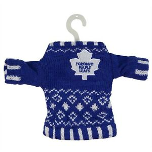 save off bde69 9865c Details about Toronto Maple Leafs - Knit Sweater Christmas Holiday Ornament