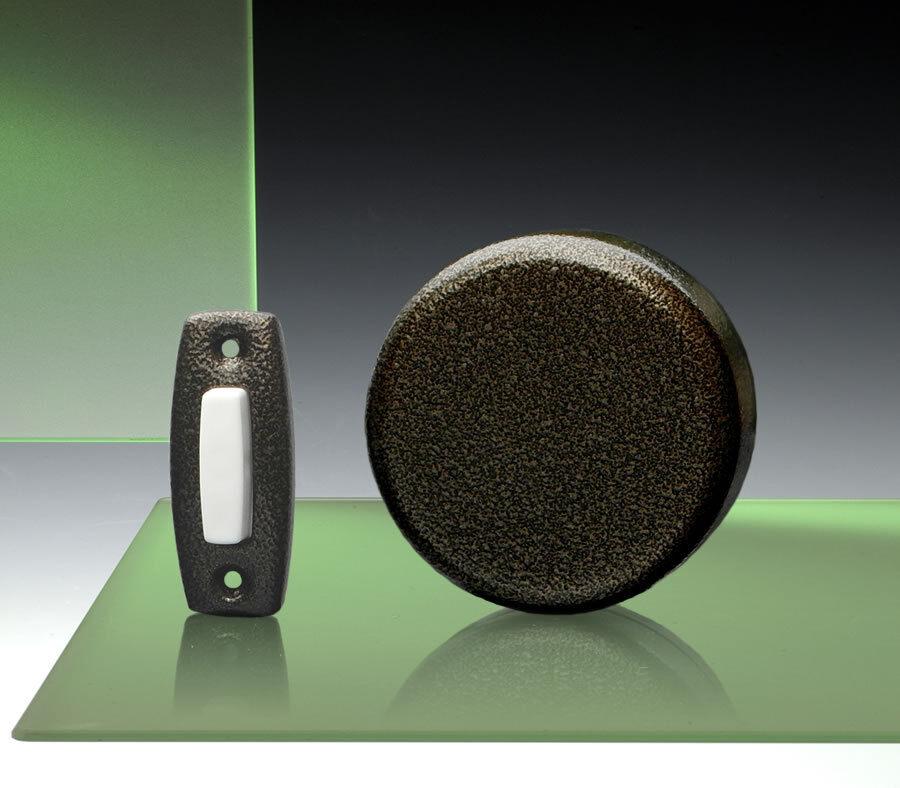 Imperial Wind-Up Mechanical Doorbell, Vintage Copper