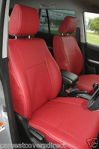 SUZUKI GRAND VITARA 98-05 RED /& BLACK CLOTH FULL CAR SEAT COVER SET