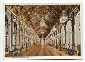 Ungelaufene-AK-Schloss-Herrenchiemsee-Spiegelgalerie-von-ca-1960