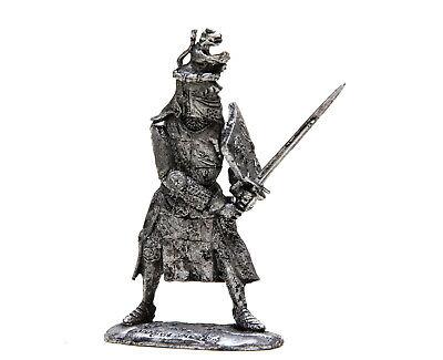Zinnfigur 54 mm KN12 Französischer Ritter 1:32 Maßstab