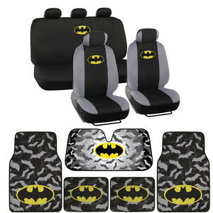 Dark-Knight-Batman-Seat-Covers-Floor-Mats-Auto-Shade-for-Car-amp-SUV-Full-Set