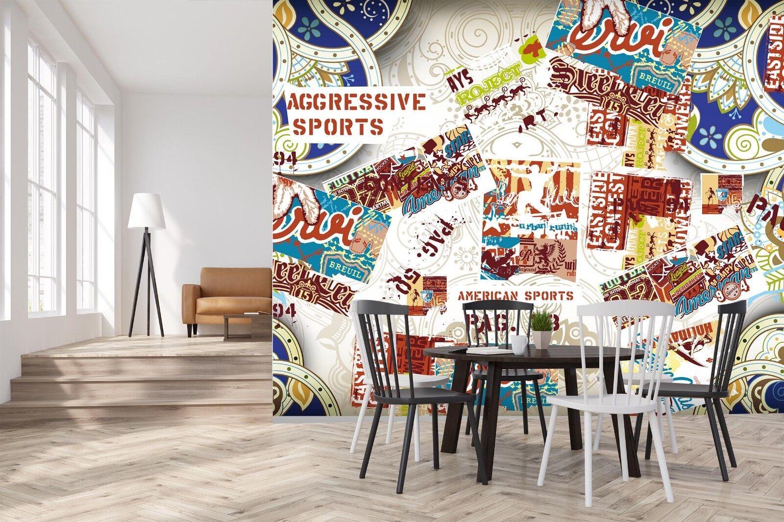 3D Slogan 7161 Wall Paper Print Wall Decal Deco Indoor Wall Murals US Summer