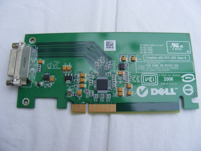JOB LOT OF x5 DELL PCI-E LOW PROFILE DVI-D VIDEO CARDS FH868 WITHOUT BRACKETSS