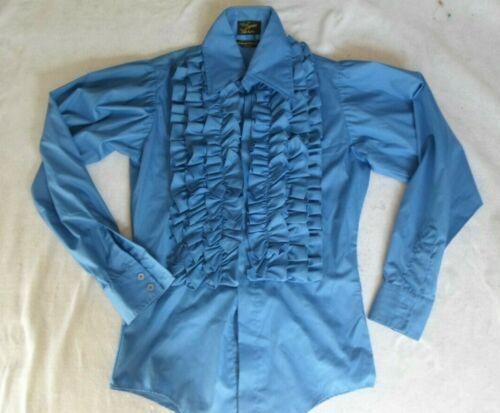 1970's VINTAGE RUFFLED Tuxedo Shirt Seinfeld POET