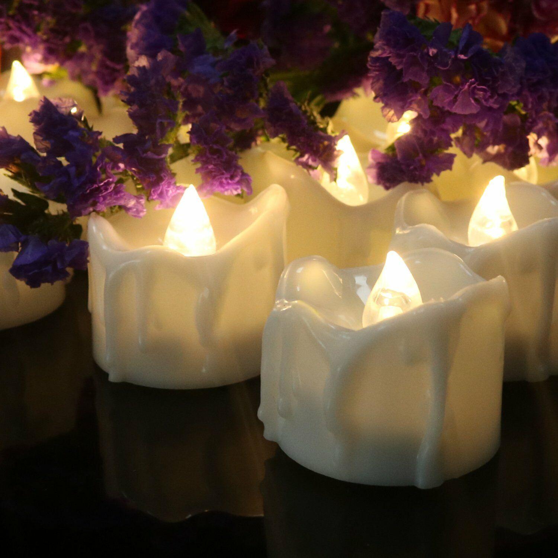 12Pcs Flameless Candles LED Battery Operated Electric Tea Li