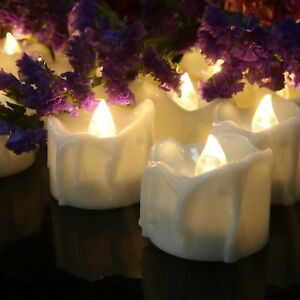 12-Flameless-Votive-Decor-Candles-LED-Tea-Light-Battery-Operated-Flickering-Lamp