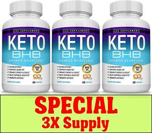 Keto-Diet-Pills-BHB-Advanced-Ketogenic-Weight-Loss-Fat-Burner-3X-Supply