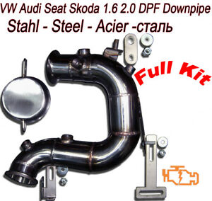 downpipe dpf fap removal audi a3 8v tt 8s 2 0 tdi 150. Black Bedroom Furniture Sets. Home Design Ideas