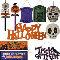 Halloween Spooky Plaques Glitter Sign Menu Board Wood Wall Party Decoration