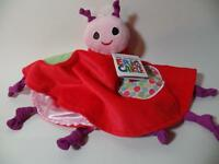 Eric Carle Girl's Chenille Minky & Satin Ladybug Security Blanket Rattle