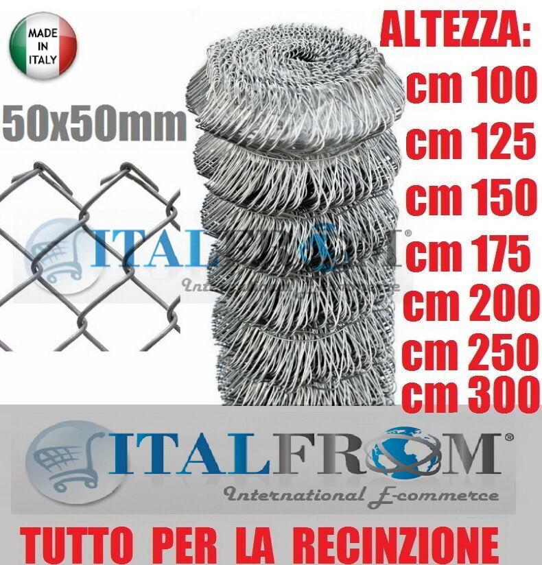 25mt-ROTOLO RETE METALLICA ZINCATA MAGLIA SCIOLTA 5x5cm- RETE PER RECINZIONE