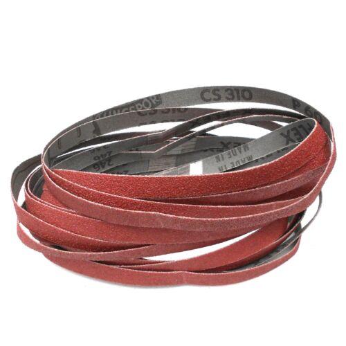 Klingspor Schleifband-Set 15-teilig für Silverline 247820 Silverstorm-Bandfeile