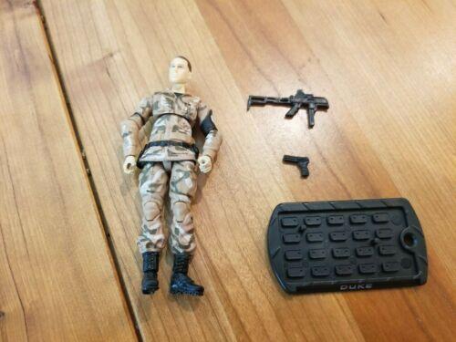 avec Fusil et pistolet Hasbro 2009 GI Joe Duke V37 version 37 très bon état!
