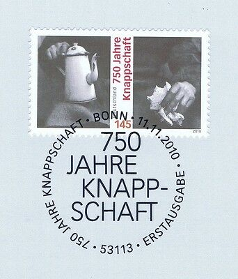 Brd 2010: Knappschaft 750 Jahre! Nr. 2831 Mit Bonner Ersttagsstempel! 1a! 1905