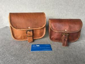 Handmade-Goat-Leather-Money-Pouch-5-034-amp-7-034-Bum-Bag-Fanny-Pack-Billy-Goat-Designs