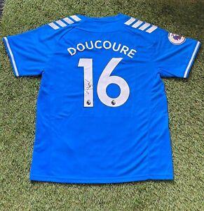 Abdoulaye Doucouré - EVERTON - SIGNED Shirt 2020-2021 + COA **EXACT PROOF**
