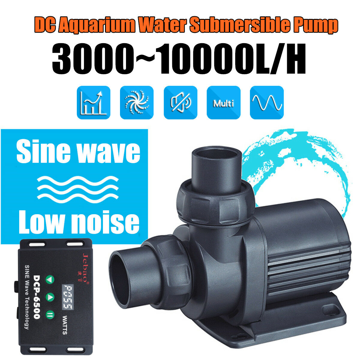 Submersible Water Pump for Aquarium Fish Tank Water Feature 300010000L H New A
