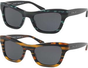 Coach-Women-039-s-Striped-Glitter-Modified-Cat-Eye-Sunglasses-HC8223