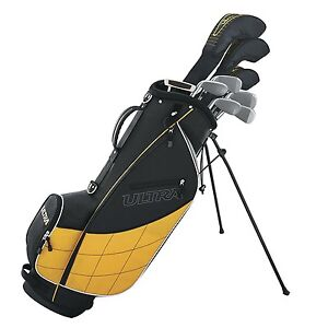 Wilson-Ultra-Men-039-s-Complete-9-Piece-Right-Handed-Golf-Club-Set-amp-Stand-Yellow