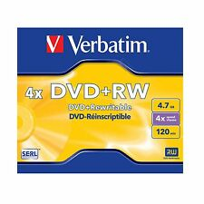 Verbatim DVD+RW 4.7GB 120Min (4x) DVD Rewritable 43228 DVDRW