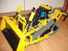 Bauanleitung instruction Bulldozer 8275 RC Eigenbau Unikat Moc Lego Technic