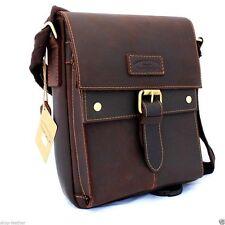 Genuine vintage Leather Shoulder Bag  Messenger man i pad handbag air new 10 new