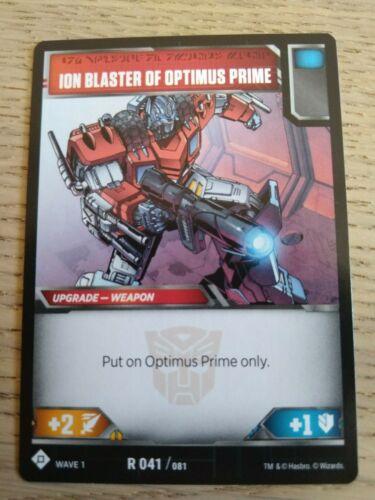 Ion Blaster of  Optiums Prime R 041//081 Wave 1 Transformers TCG