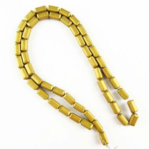 """24.4g 8x4x4mm Matte Gold Hematite Oblong Loose Bead 15.5/"""" 340TS"""