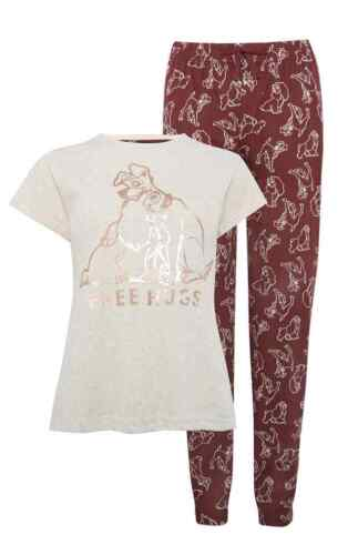 Ladies Primark Disney Lady /& The Tramp Nightwear Summer Tshirt Pyjama PJ/'s Set