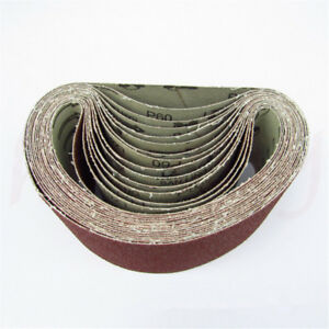 75mm-Abrasive-Sanding-Belts-Sand-40-60-80-120-Grit-Metal-Wood-Polishing-Tool-Kit