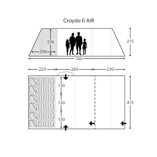 Kampa Croyde 6 air pro