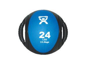 Cando Dual Handle Medicine Ball 9 Diameter Blue 24