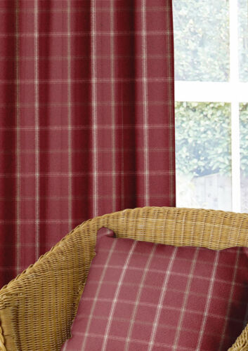 Wool Effect Thick Tartan Harris Plaid Upholstery Curtain Designer Fabric Metre