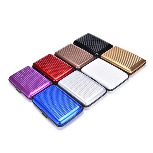 Waterproof Business ID Credit Card Wallet Holder Aluminum Metal Pocket Case ZD