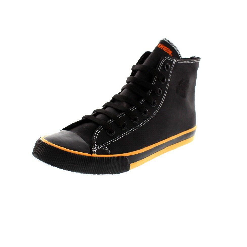 Harley Davidson Uomo - High High High Top scarpe da ginnastica Nathan - D93816 - nero 1107f1